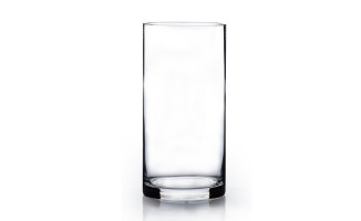 Clear Cylinder Vase (20cmH x 10cmD)