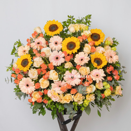 Sunflower and gerbera flower stand
