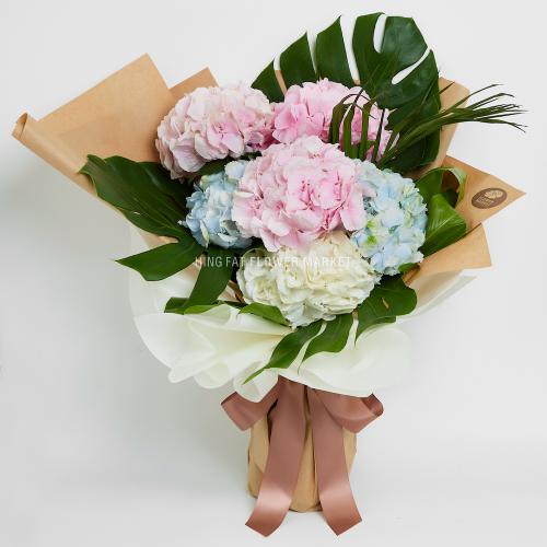 6 stems hydrangea bouquet
