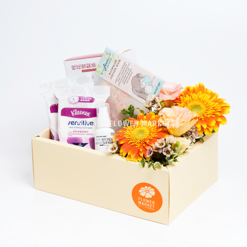 Quarantine flower box - orange gerbera