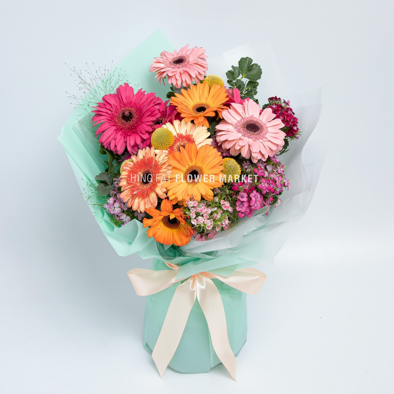 太陽菊花束