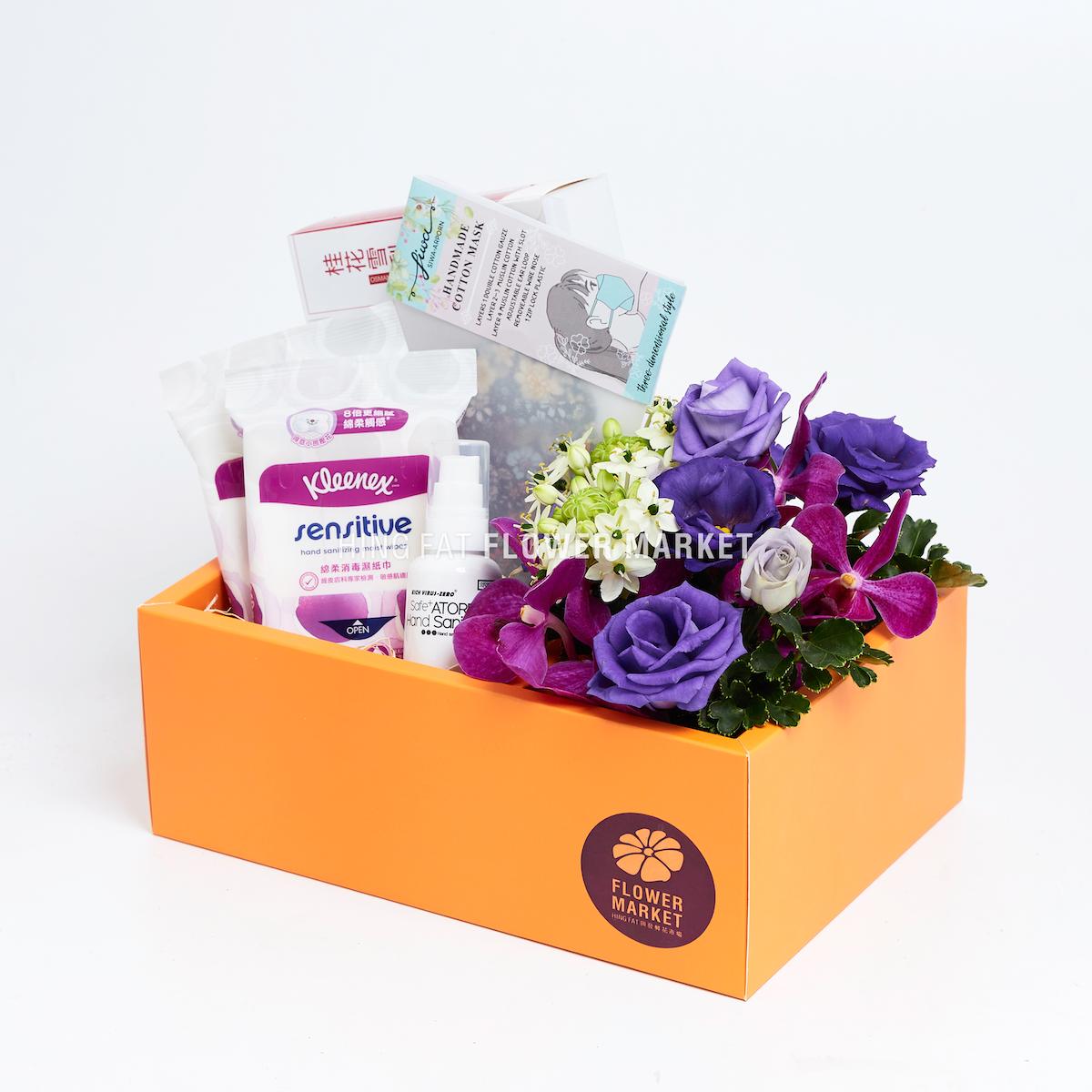 紫桔梗抗疫手提花盒