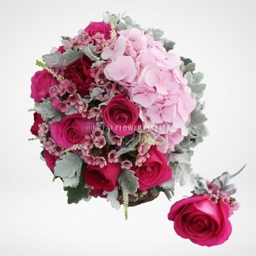 - 玫瑰繡球花球
