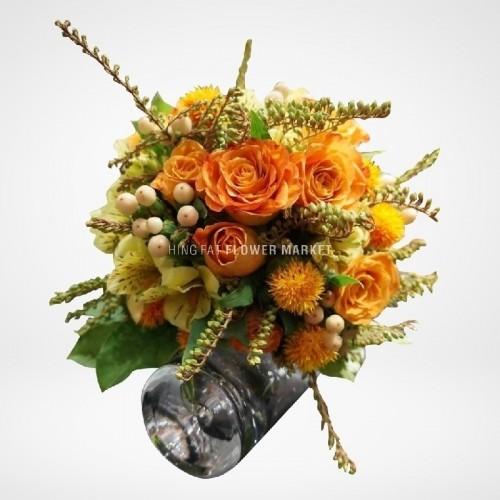 ★ 新年及情人節期間 (17/1 - 16/2)  如需訂購花束、花籃或其他花禮,請電郵至cs@hffm.com.hk或致電2397 8878聯絡我們 - 肯亞玫瑰花球
