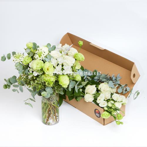 - 白玫瑰綠桔梗DIY花材包套裝