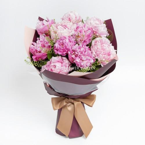 母親節花禮 - 母親節 - 粉牡丹花束
