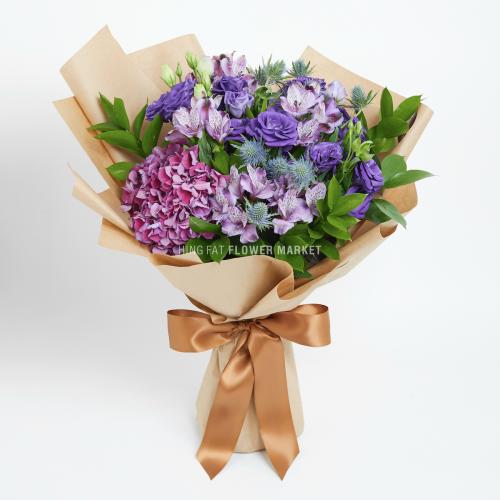 - 紫繡球桔梗花束