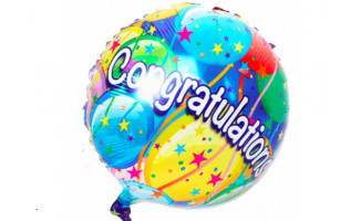 Congratulations 氣球