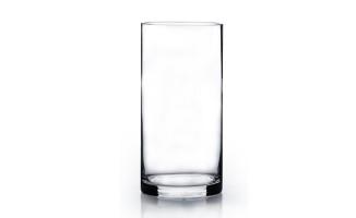 透明圓桶形花樽 (20cm高 x 10cm闊)